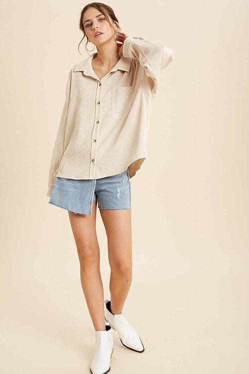 Sand Corduroy Shirt