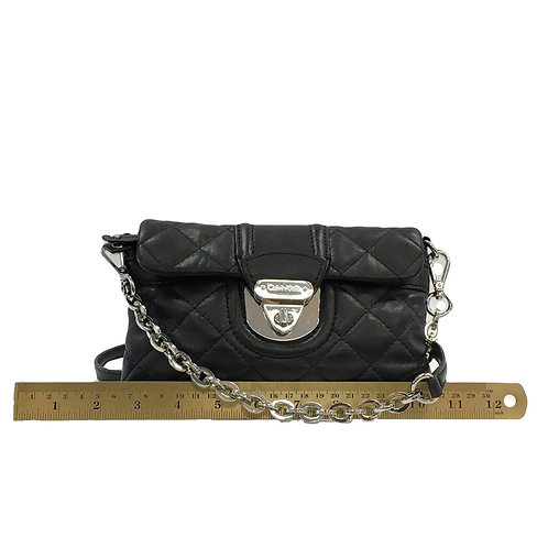 Black Quilted Leather Calvin Klein Crossbody