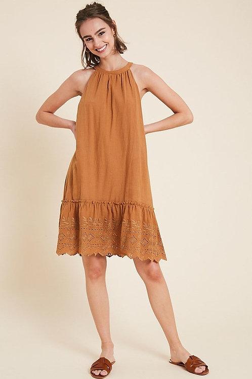 Orange Lace Hem Dress