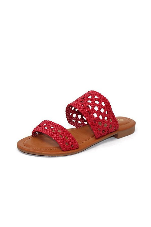 Red Woven Sandal