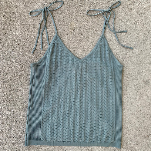 Teal Grey Knit Camisole