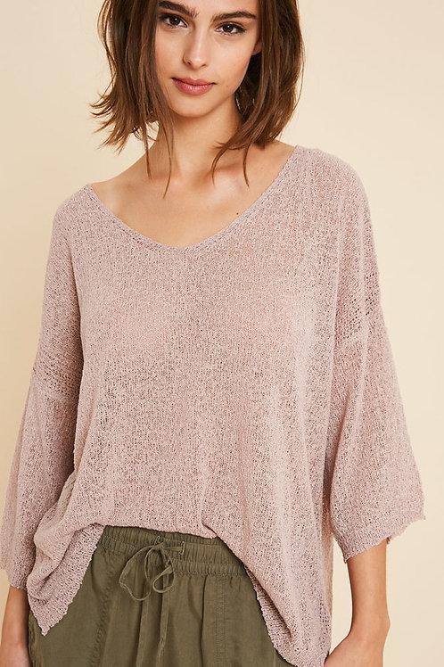 Mauve Light Knit Top