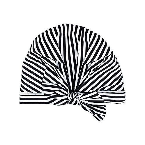 Stripe Luxe Shower Cap