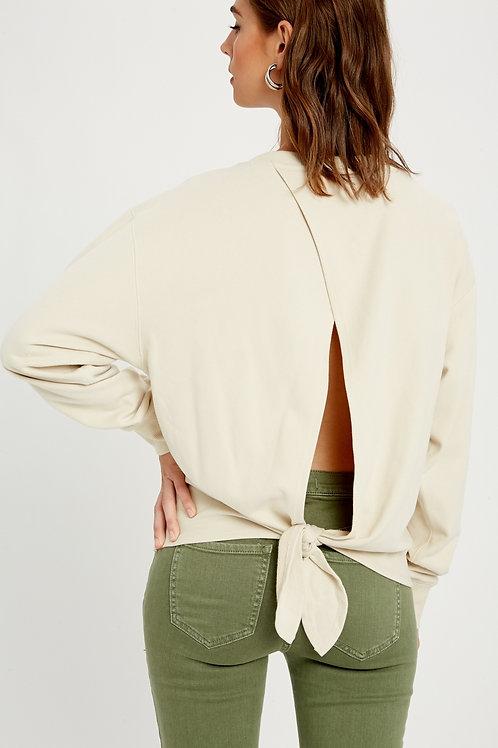 Bone Open Back Sweatshirt