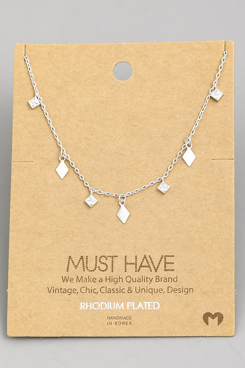 Silver Dainty Short Necklace