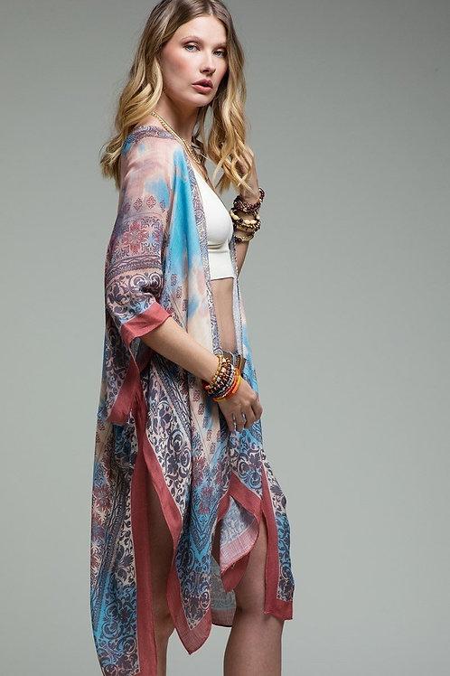 Ava - Red Mandala Kimono
