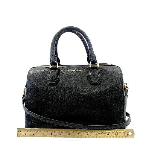 Black Pebble Leather Michael Kors