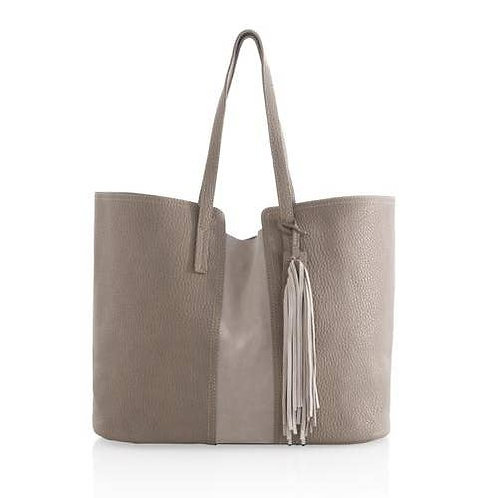 Taupe Tote with Tassel