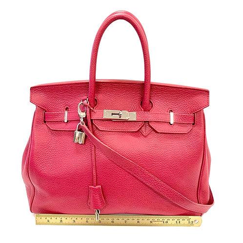 Lipstick Leather Teddy Blake Handbag