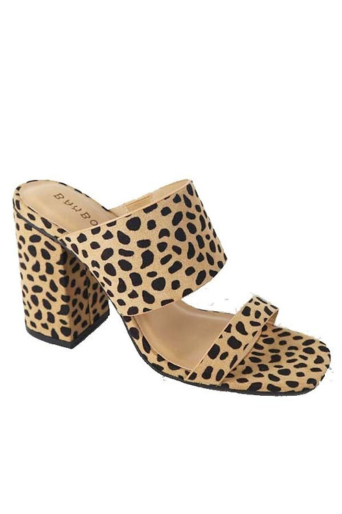 Cheetah Block Heel