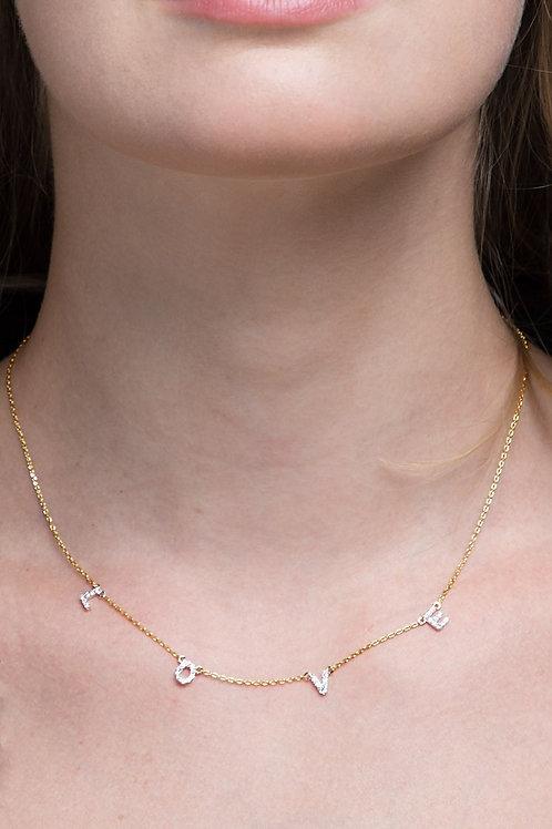 LOVE Pave Necklace