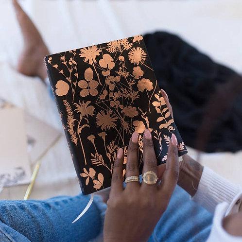 Black Floral Sketchbook