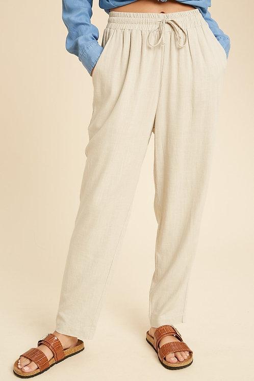 Sand Drawstring Pants