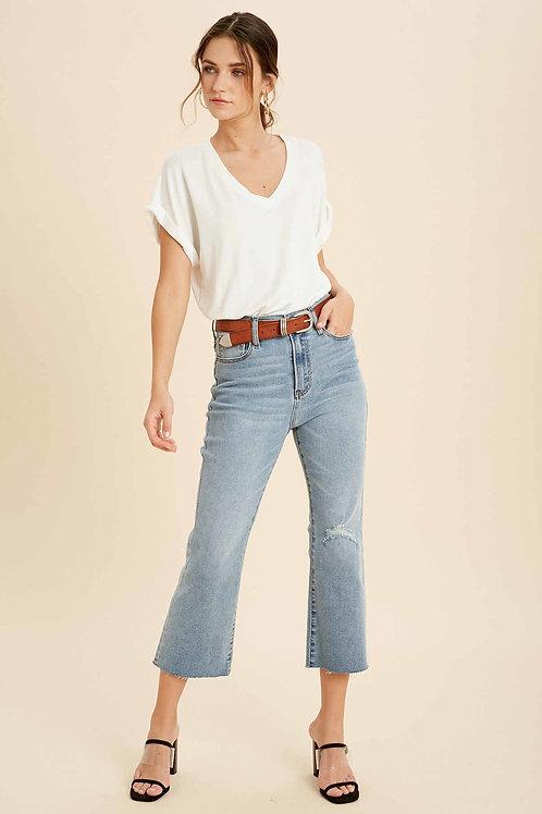 Denim Raw Hem Jeans