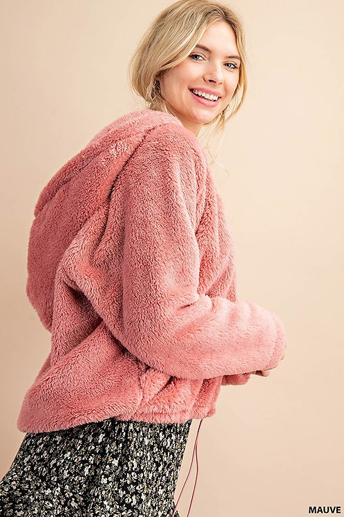 Cozy Pink Hooded Pullover