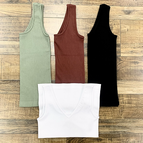 One Size Ribbed Tank