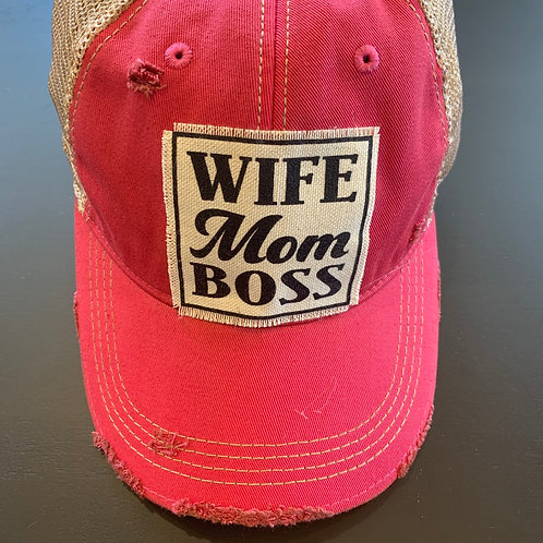 Wife Mom Boss Baseball Cap