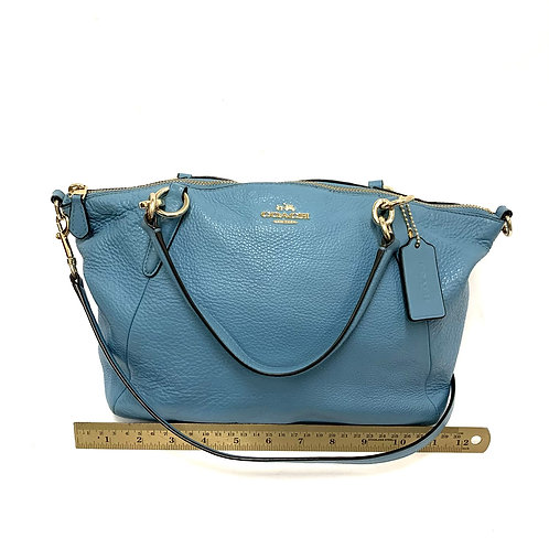 Blue Coach Leather Crossbody