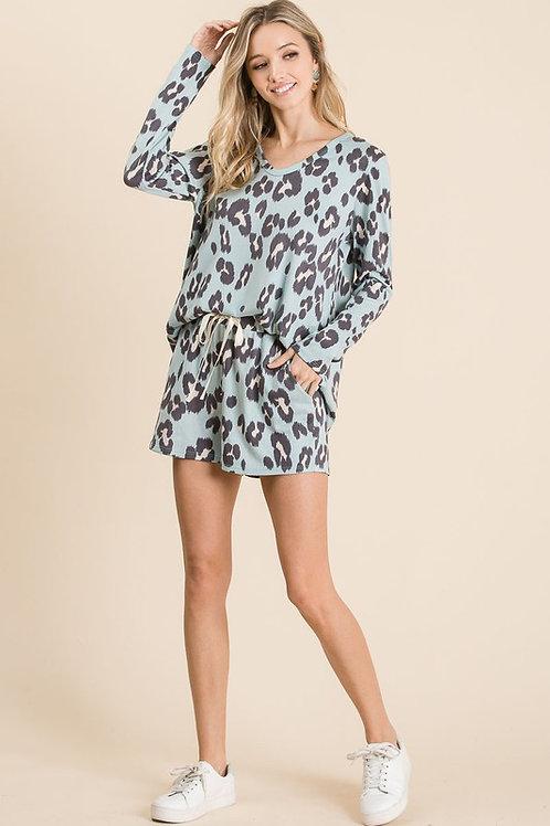 Leopard Print Loungewear Set
