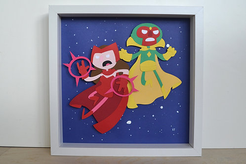 WandaVision Framed Papercraft Artwork