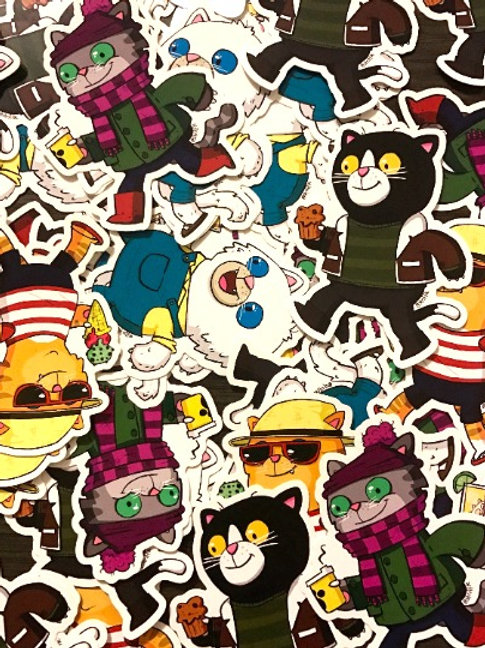 Cats for all Seasons sticker pack