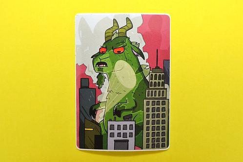 Goatzilla Kaiju Monster Vinyl Sticker