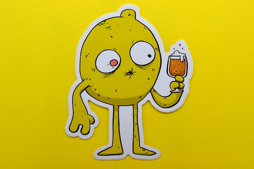 Sour Beer Monster Vinyl Sticker