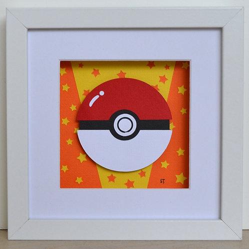 Pokeball Framed Papercraft Artwork