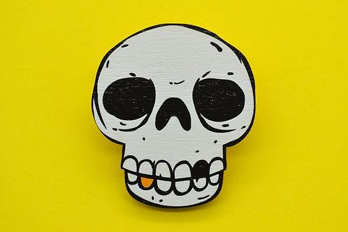Skull Wooden Pin