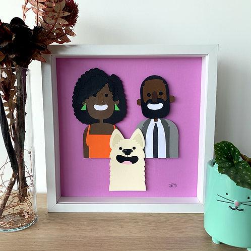 Custom Framed Paper Family Portrait