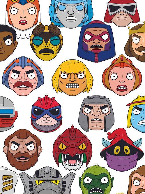 MOTU Heroic Warriors Print A4 or A5 size
