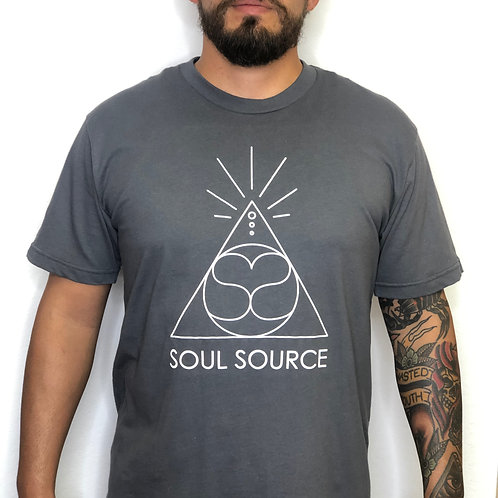 Men's Solid Grey SS T-Shirt