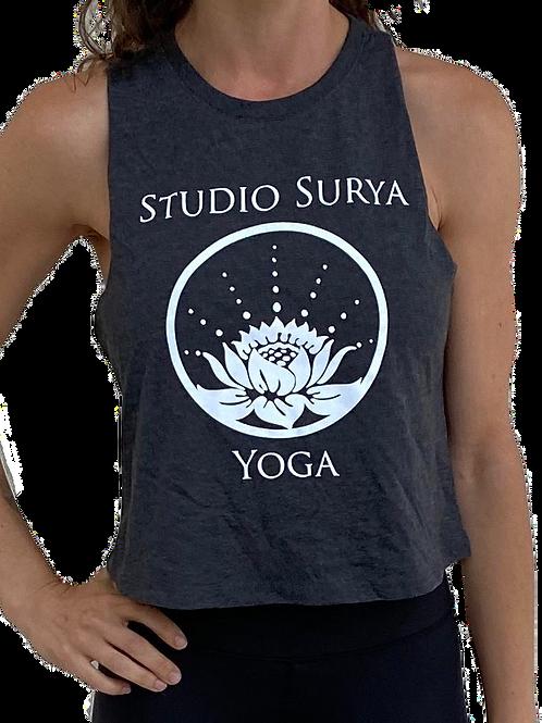 Surya Women's Relaxed Crop Top - Charcoal