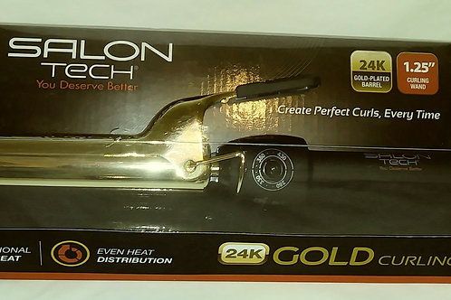 Curling Iron 1.25 inch 24K Gold