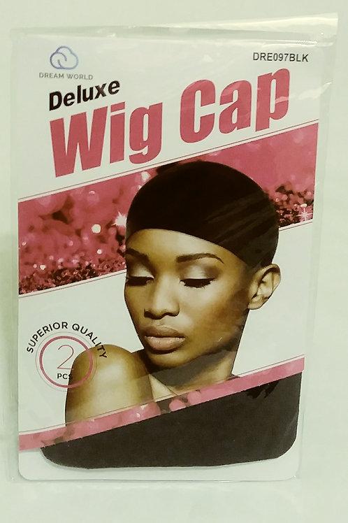 Wig Cap Deluxe Black 2 count (12in)