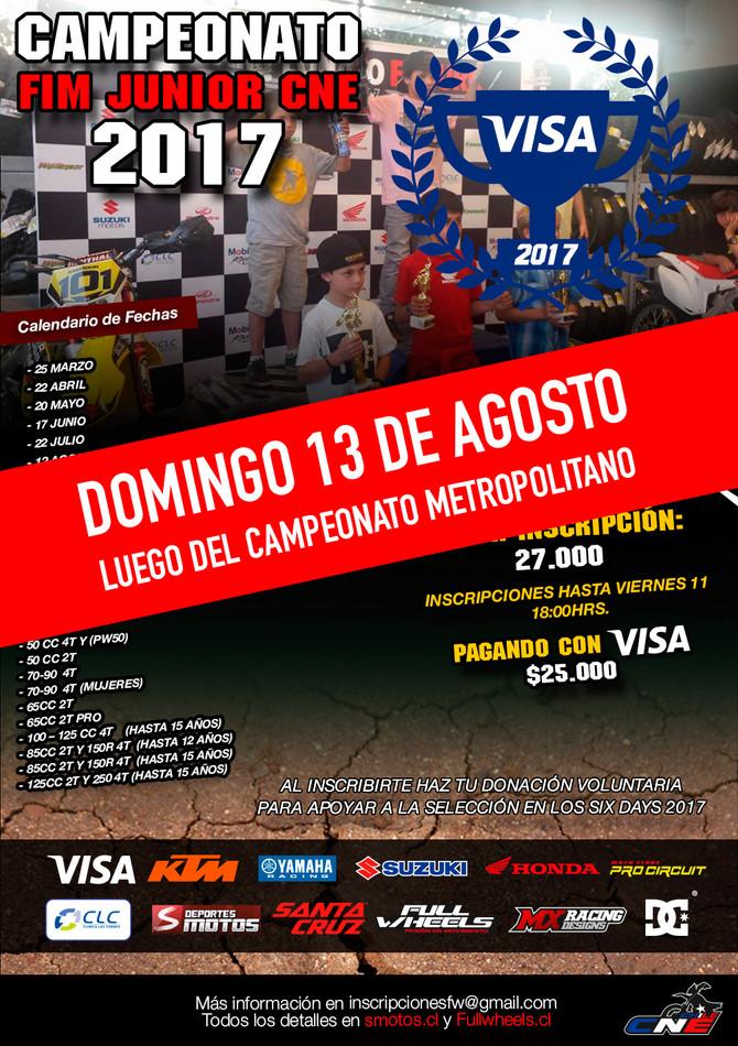 Cambio de día, Campeonato FIM Junior CNE