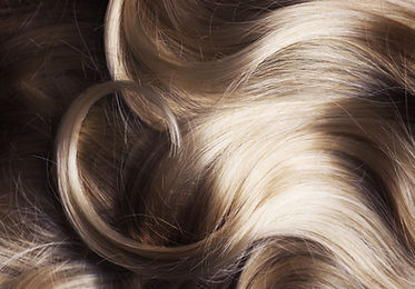 ブロンドの髪