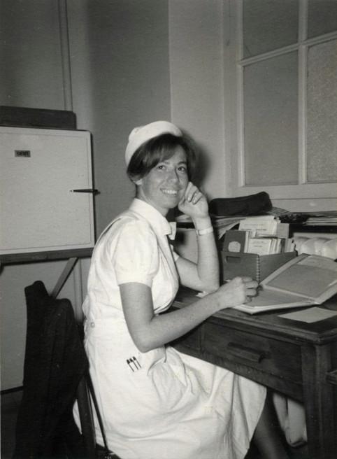 Ariane in nursing school