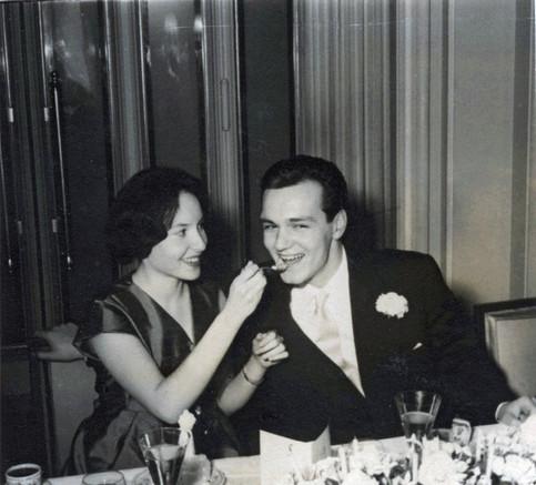 Anita and Alexandre Volokhine on their wedding day