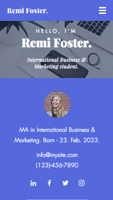 Portfolio & CV website templates – Student Resume