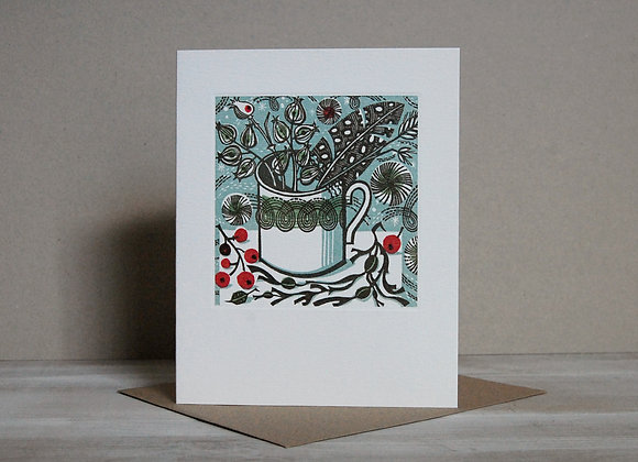 Printmakers Card - Winter Persephone