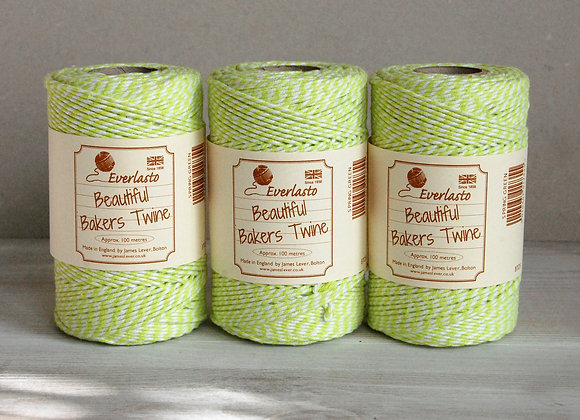 Bakers Twine 100mt - Lime