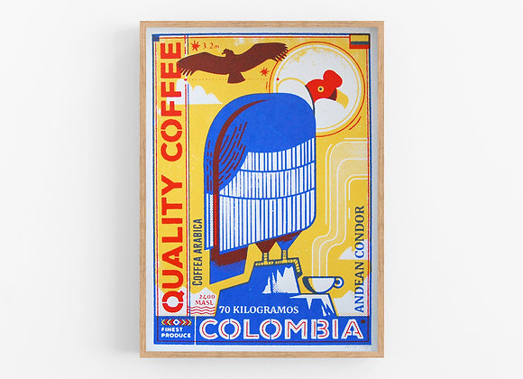Columbia - Coffee Birds Screen Print