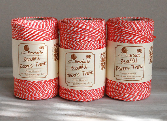 Bakers Twine 100mt - Strawberry