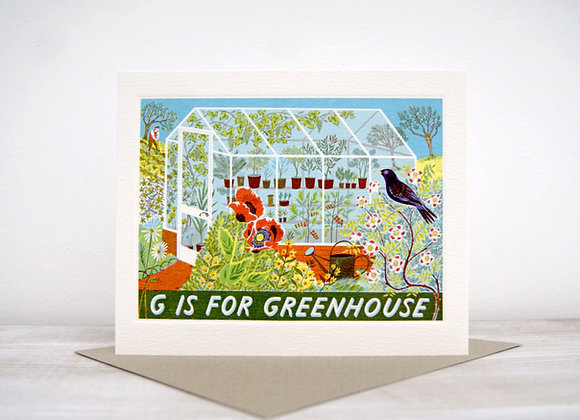 Printmakers Card - G is for Greenhouse