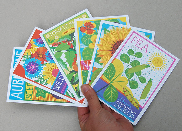 Seed Packets Postcard Pack