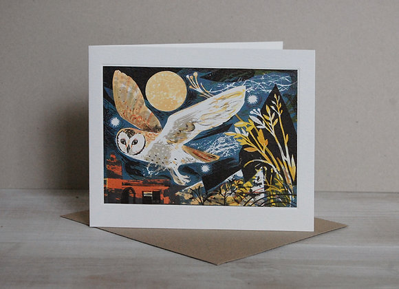 Printmakers Card - Owl Flight