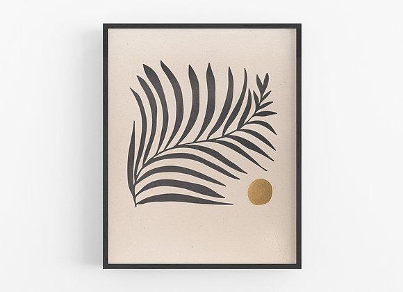 Letterpress Print - White Fern