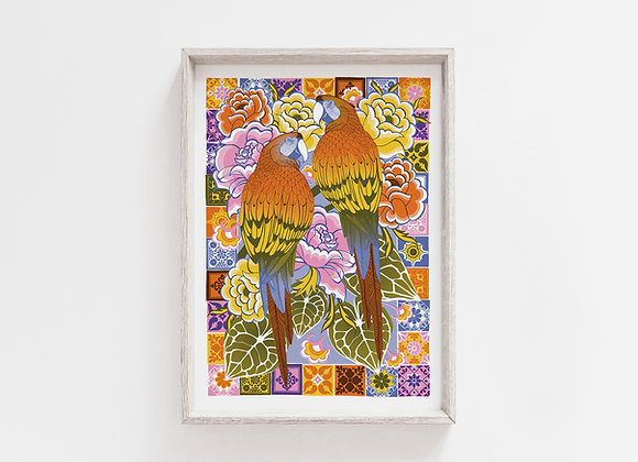 Macaws A4 Art Print
