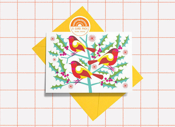 5 Card Pack - Robin